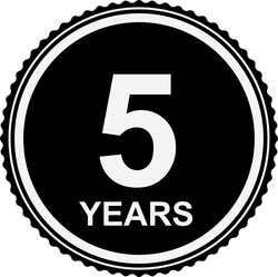 5 years guarantee